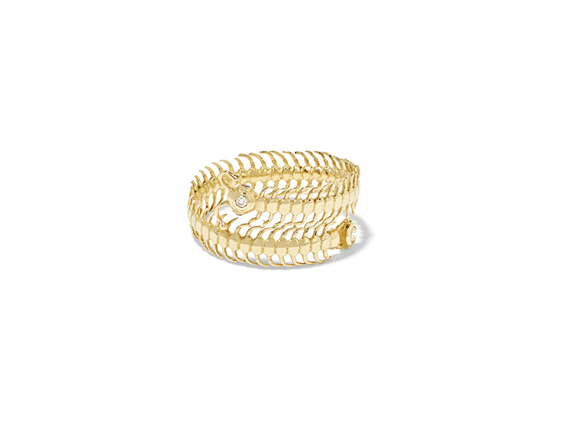 Daniela Villegas Baby centipede ring mounted on gold with diamond & sapphire - 1'938 €