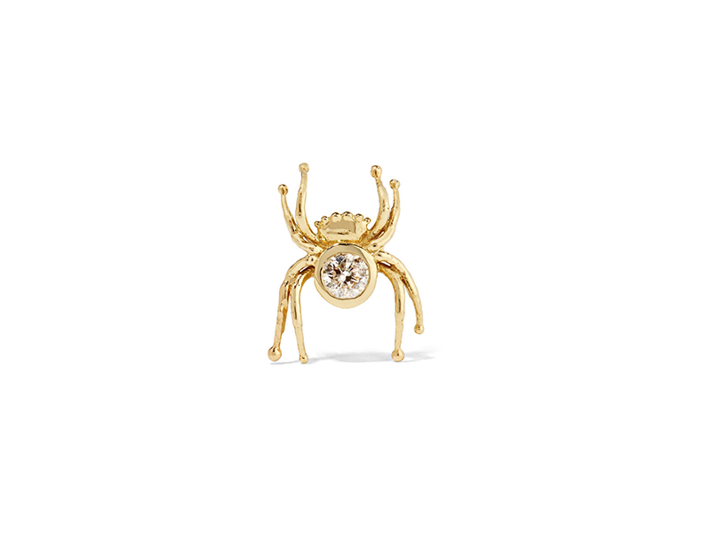 Daniela Villegas Mini spider mounted on 18k gold with diamonds - 885 €