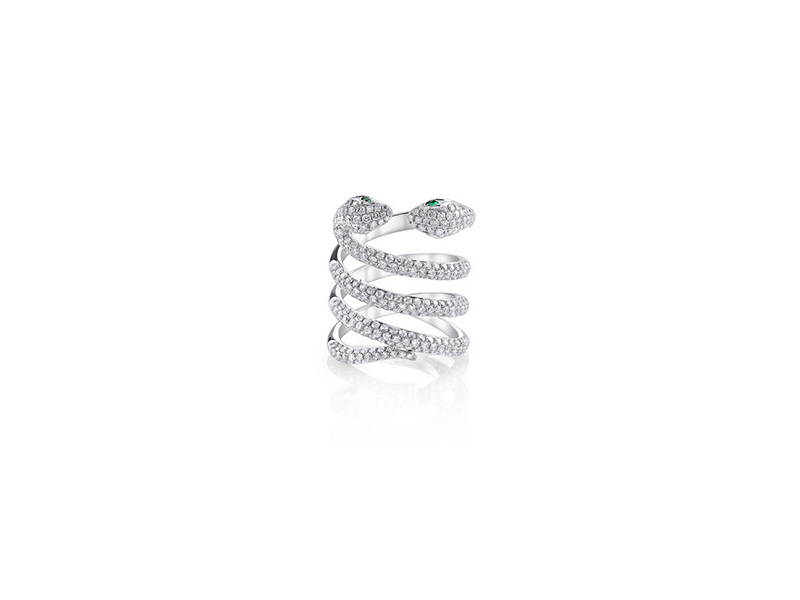 Anita Ko Double-Head Diamond Coil Snake Ring 14700 $