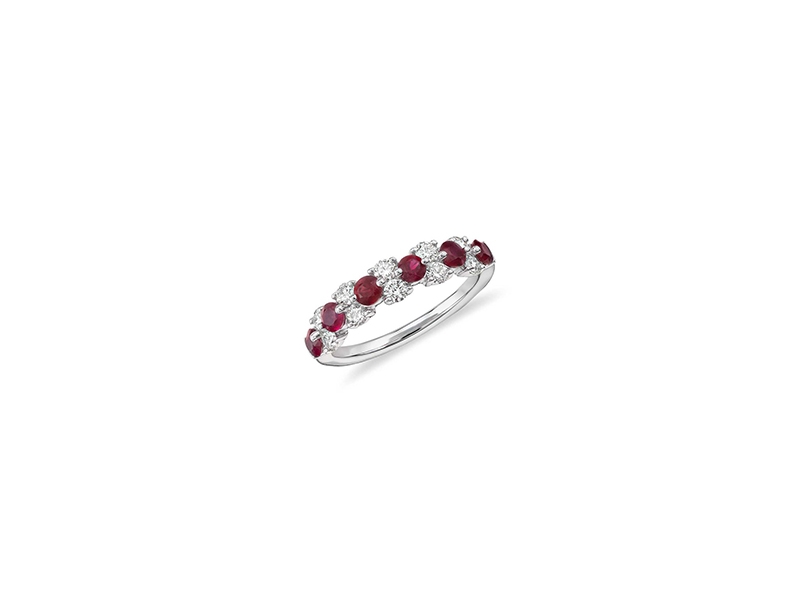 Blue Nile Ruby And Diamond Garland Ring