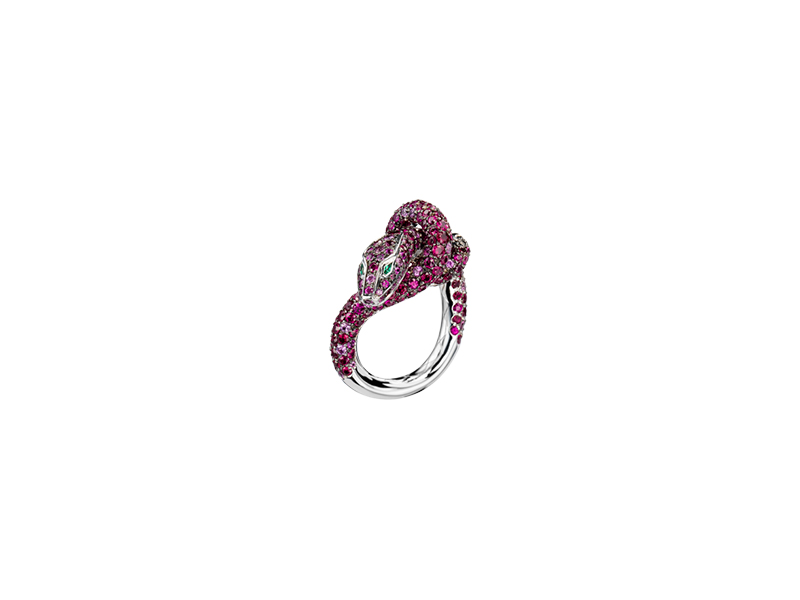 Boucheron Kaa, The Snake Ring Rubies