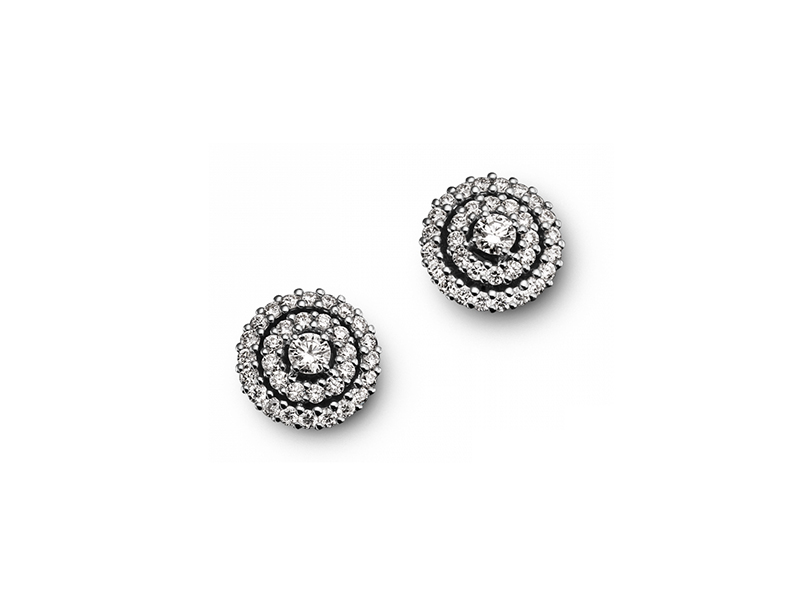 Bucherer Diamonds Earrings Mounted on white gold with white diamonds