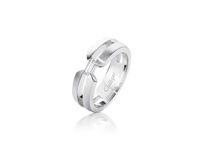 Calleija Baguette cut diamond men's ring