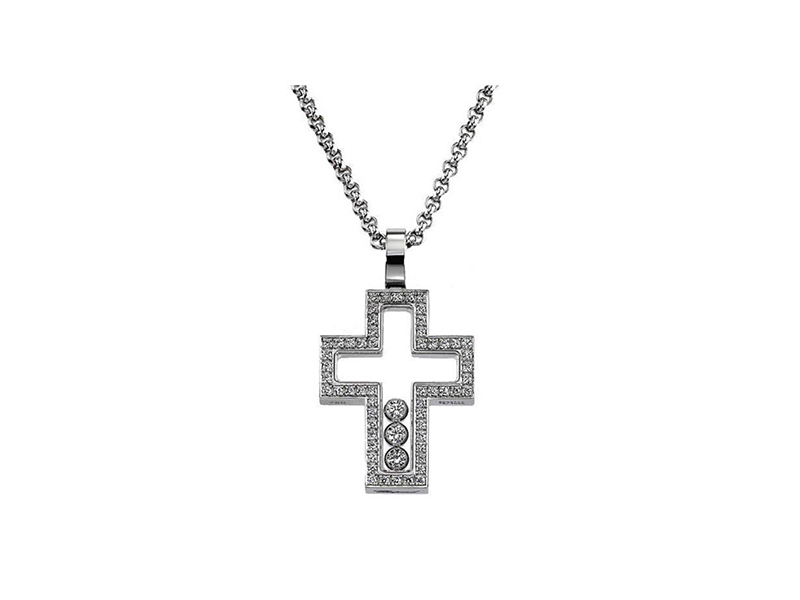 Chopard Happy Diamonds White Gold Cross Necklace