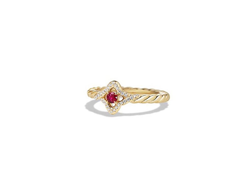 David Yurman Venetian Quatrefoil Ruby Ring