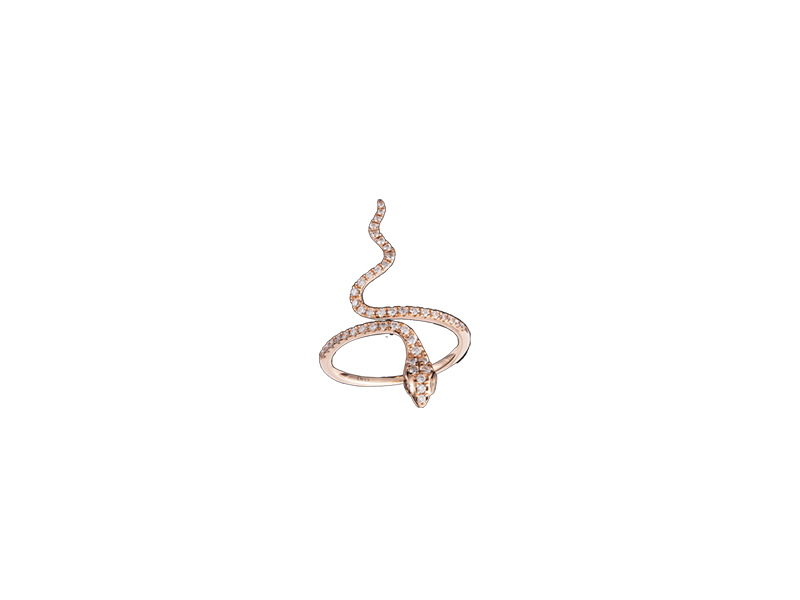 Djula Snake Gold and Diamonds Ring 1495 €
