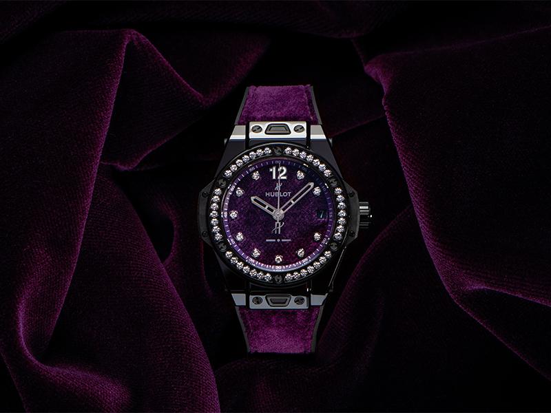Hublot Big Bang oneclick Italia Independent purple velvet