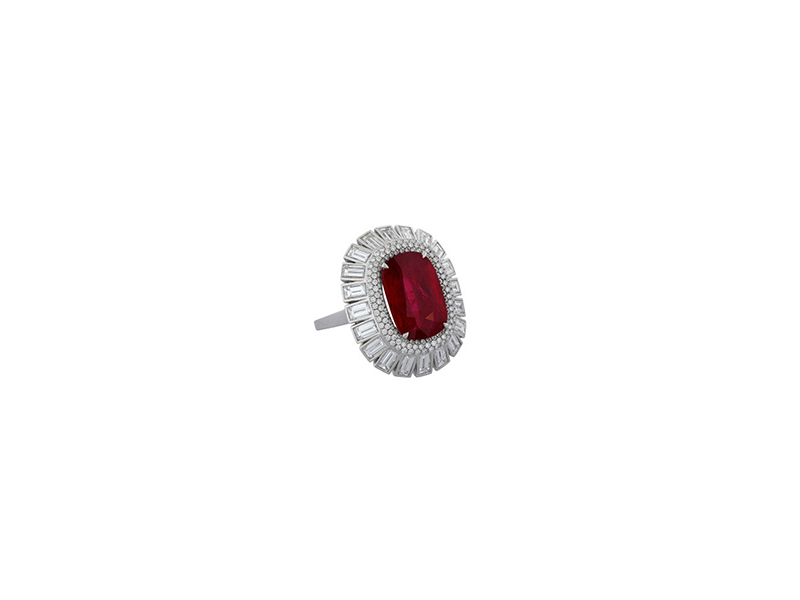 Morelle Davidson Ruby And Diamond Ring