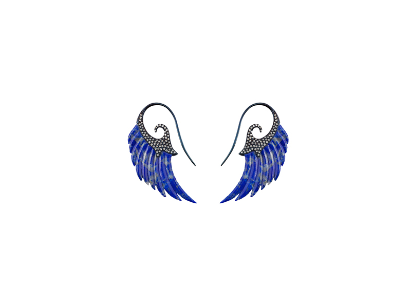 Noor Fares Fly me to the moon collection wing earrings