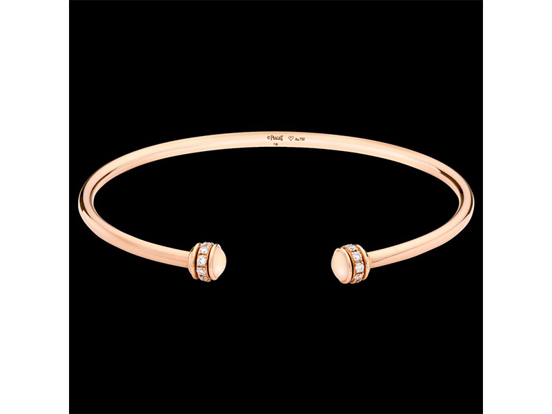 Piaget Possession bracelet mounted on yellow gold with diamonds