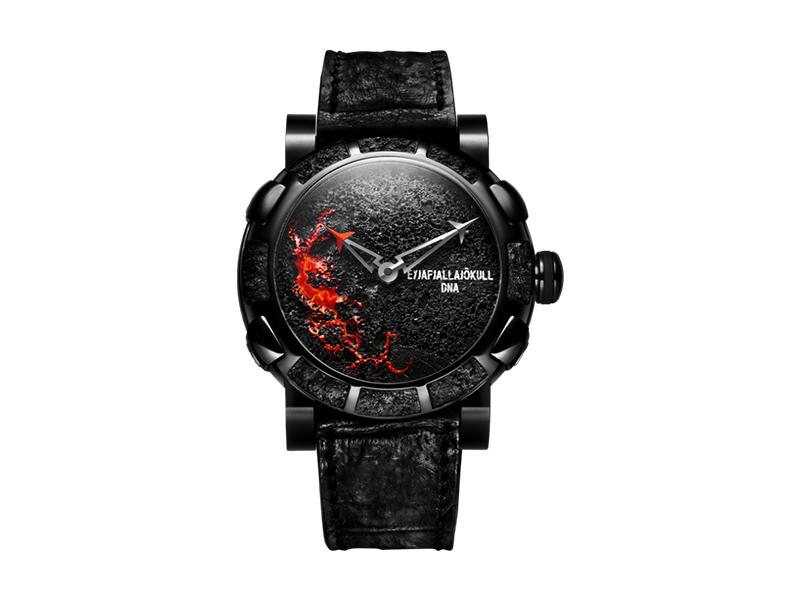 Romain Jerome Eyjafjallajökull DNA black watch