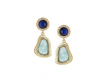 Best earrings paved with colored stones selection !