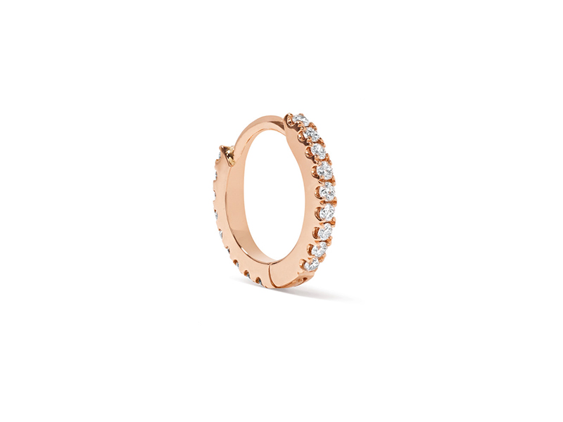 Maria Tash Mini hoop mounted on rose gold with diamond - 409 €
