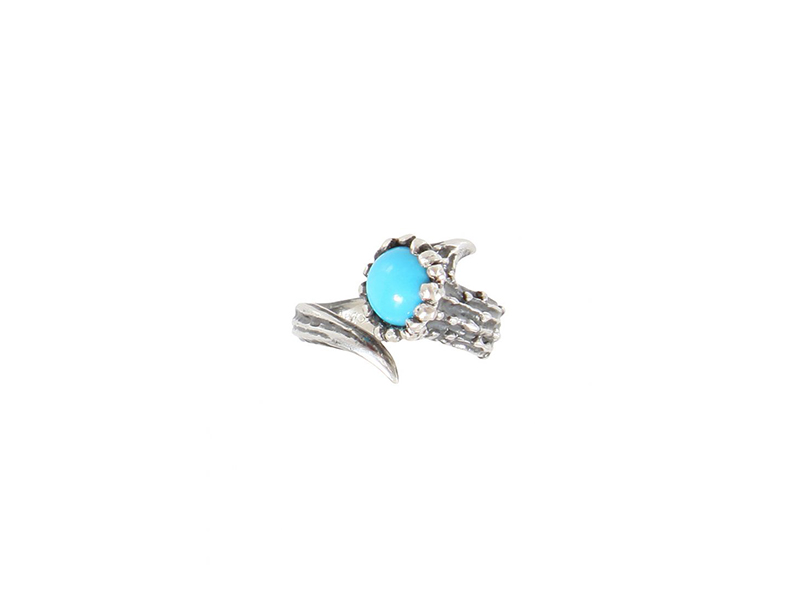Aaron Jah Stone Dear deer ring mounted on silver with turquoise 490 €