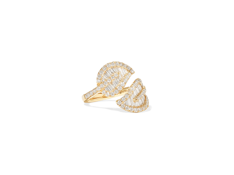 Anita Ko Leaf ring mounted on gold with diamonds 7096 €