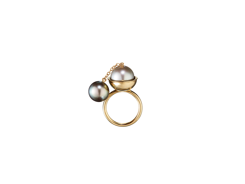Belmacz Lail tahitian pearl yellow gold ring pearls 5880 €