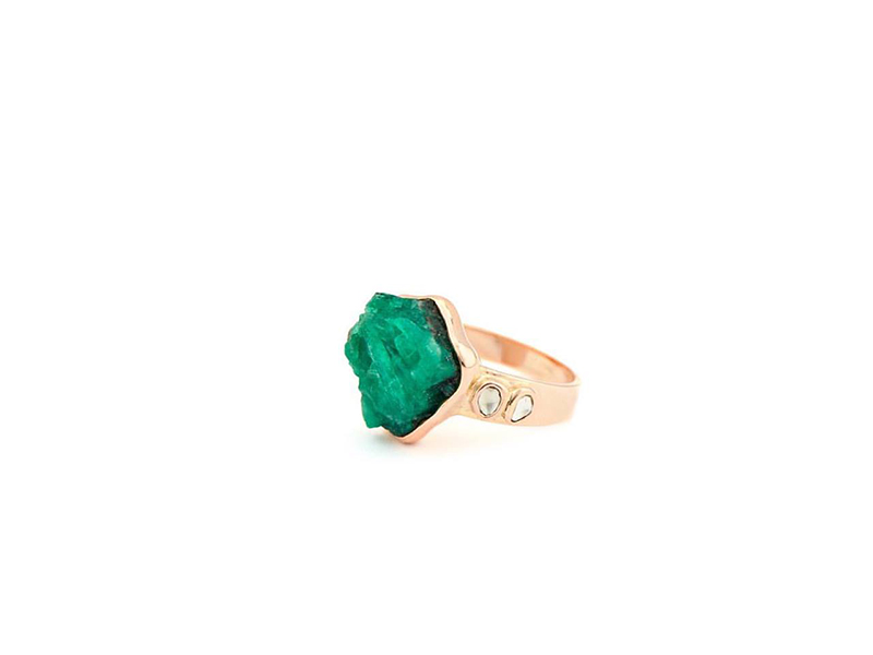 Celine d'Aoust Emerald collection rings