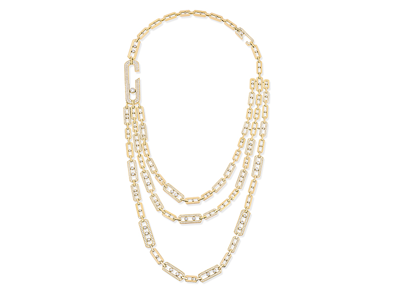 Messika Move High Jewelry Addiction 3 rows long length necklace