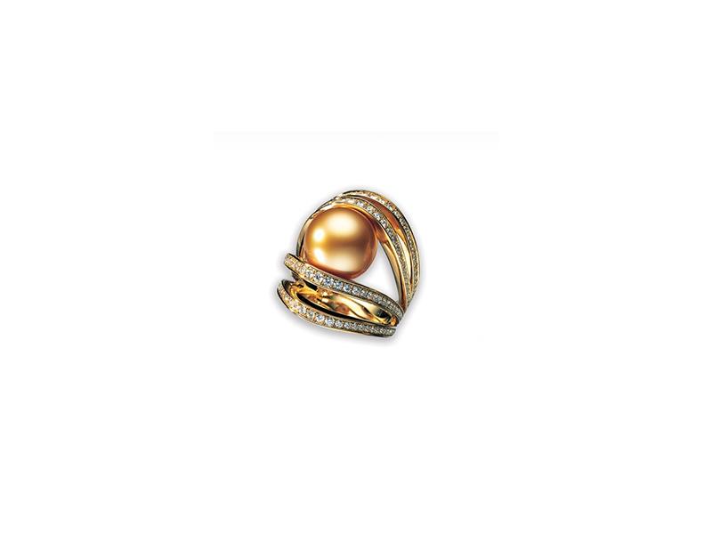 Mikimoto World of Creativity ring golden south sea 10800£