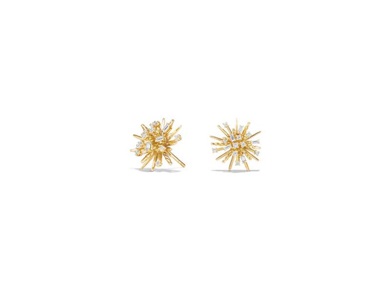 David Yurman Supernova diamond earrings mounted on gold ~ CHF 4'527