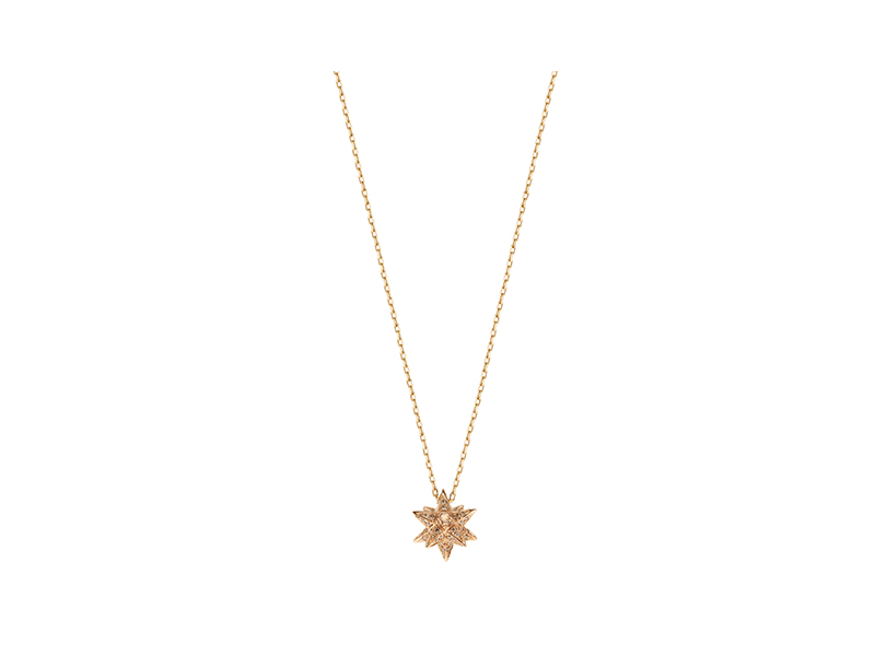 Noor Fares Merkaba necklace mounted on rose gold with diamonds 3'900 £