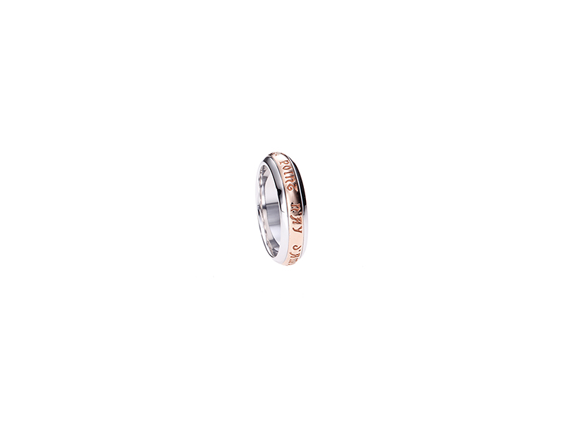 Mellerio Annel tournant bombe pink and white gold 1350€