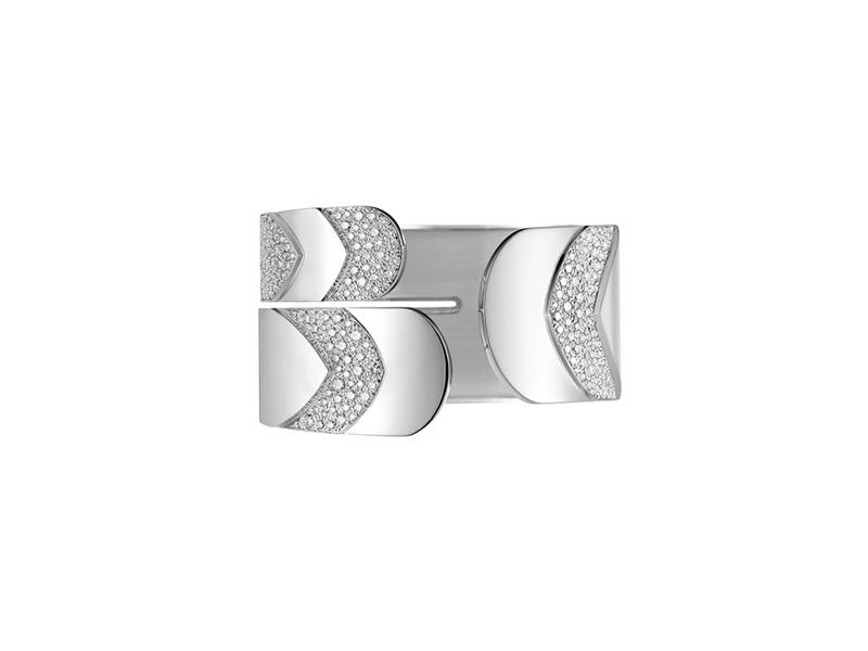 Akillis White gold diamonds manchette cuff