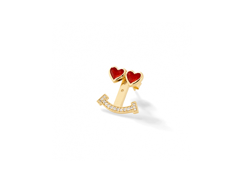 Alison Lou Love truck diamond ear jacket mounted on yellow gold 1'350 $