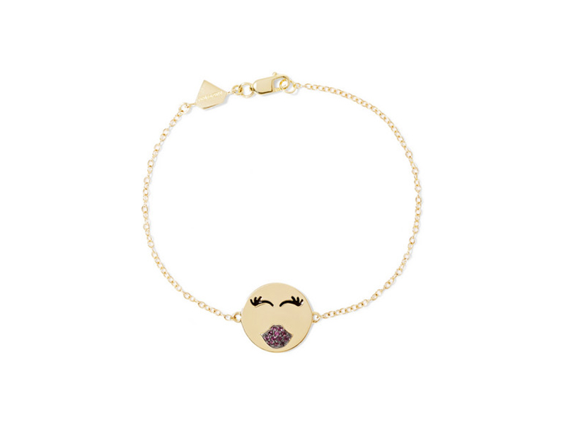 Alison Lou Mwa collection 14 karat gold ruby bracelet - 1388 €