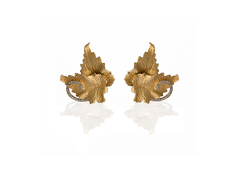 Ana Khouri White Diamond Leaf Earring