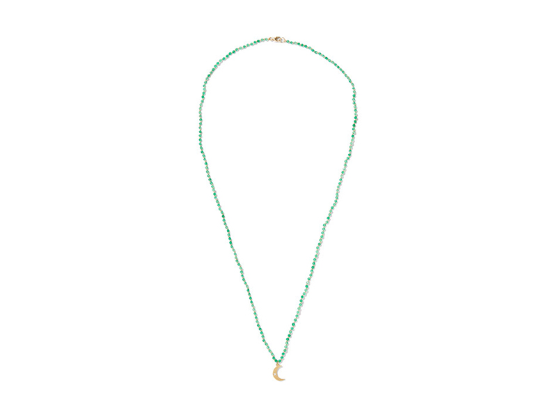 Andrea Fohrman Crescent moon onyx mounted on gold with opal 652 €
