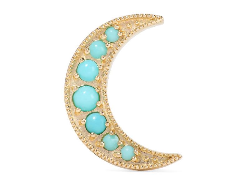 Andrea Fohrman Minirescent gold turquoise earring 512€