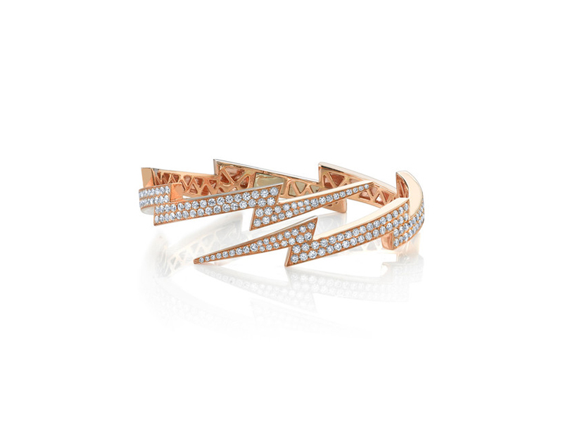 Anita Ko Diamond lightning bolt cuff rose gold 26250 $