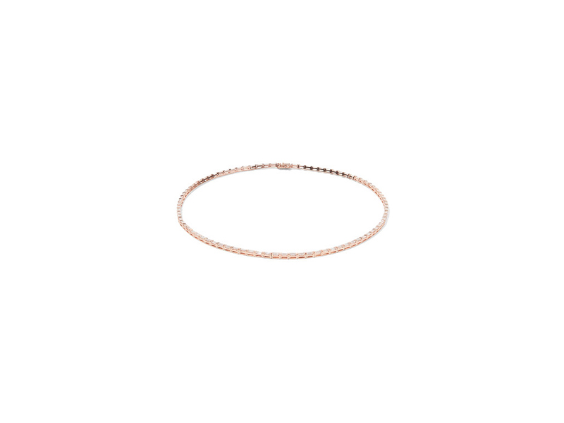 Anita Ko Necklace mounted on rose gold with baguette diamonds - 19'338 €