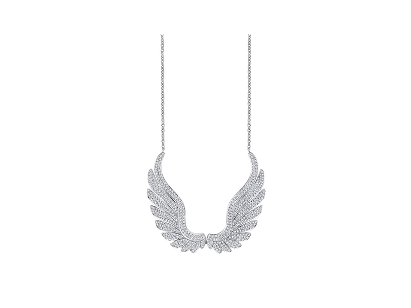 Anita Ko Large diamond wing necklace