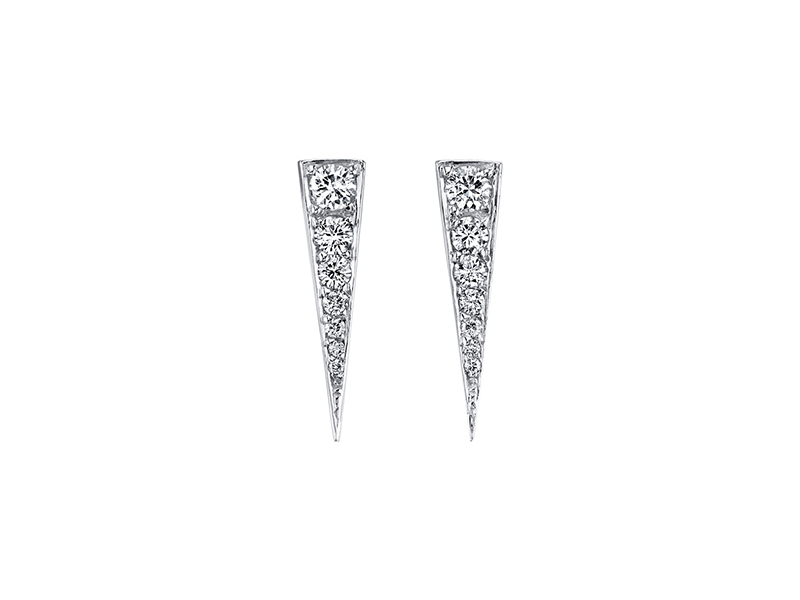 Anita Ko Small diamond dagger earrings mounted on white gold pave diamond 3150 $