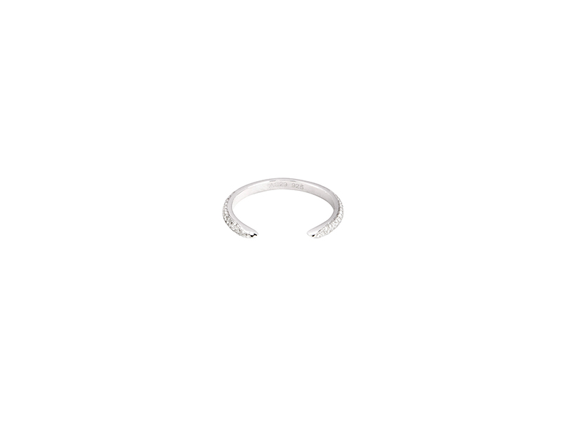 AS29   Tina Single Ring in White Gold Plated-Silver and White Diamonds 835 €
