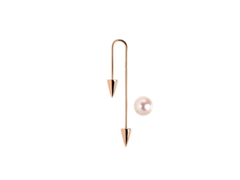 Asherali Knopfer Rose gold with one white pearl 875 €