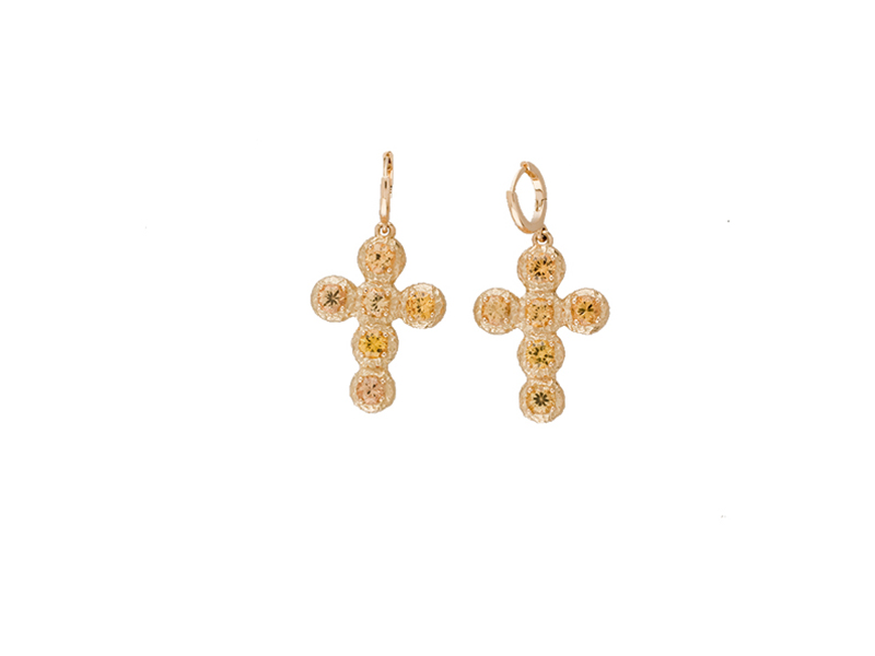 "Aude Lechere  ""Noémie""earrings with yellow sapphires"