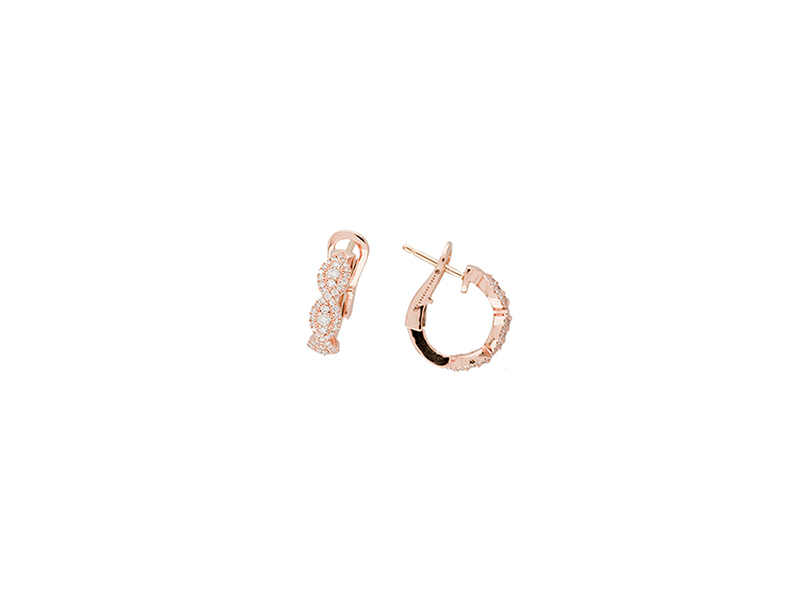 Aude Lechere BO 'Amant' mini hoops with diamonds