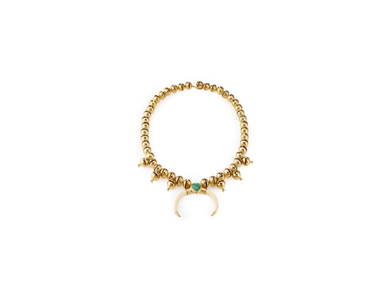 Aurelie Bidermann Turquoise and horn necklace mounted on gold plated 1'289 £
