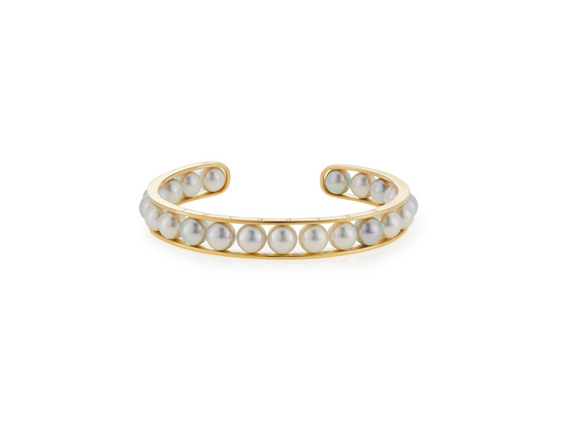 Belpearl Kobe akoya pearl bangle bracelet mounted on yellow gold - 5000 $