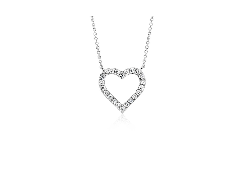 Bluenile Diamond hear necklace mounted on white gold - 850 $
