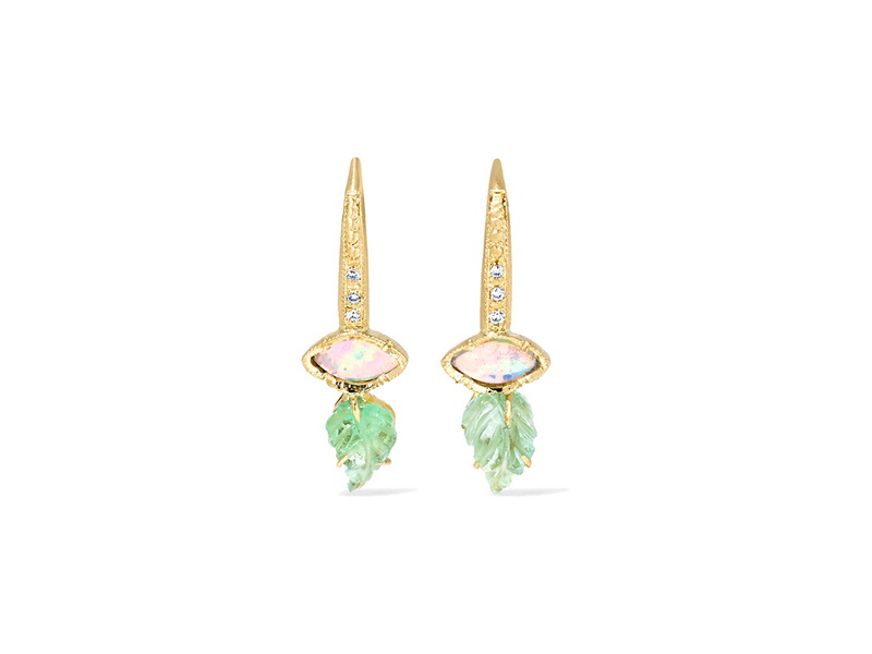 Brooke Gregson Maya earrings mounted on gold with multi-stone 3'423 €