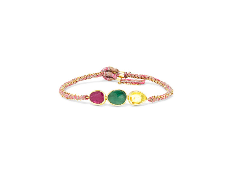 Brook Gregson Triple orbit bracelet mounted on gold with emerald and sapphire - 3'406 €