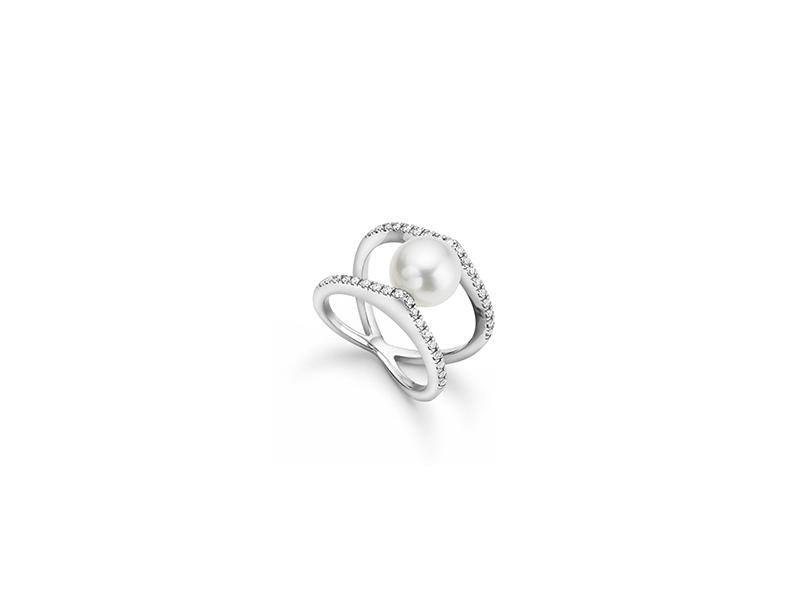 Bucherer White gold south sea cultured pearl and brilliant diamonds
