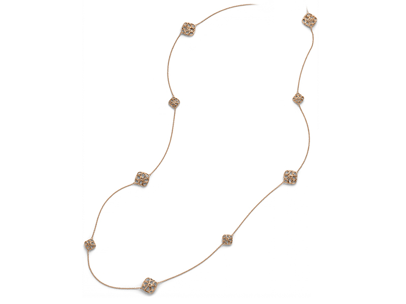Bucherer Lacrima collection necklace mounted on rose gold