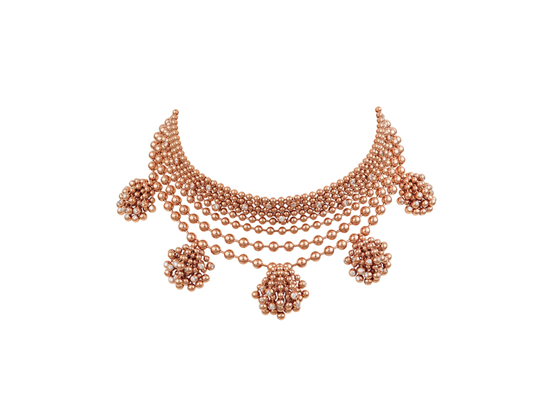 Cartier Paris nouvelle vague Choker mounted on pink gold set with diamonds