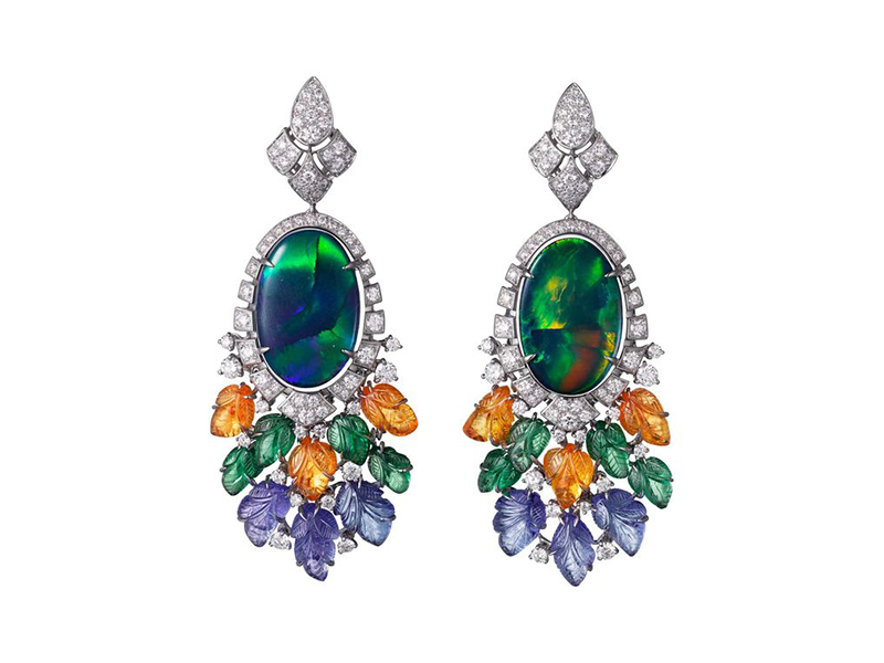 Cartier White gold opal, tsavorites, tanzanites and diamonds etourdissement high jewelry collection