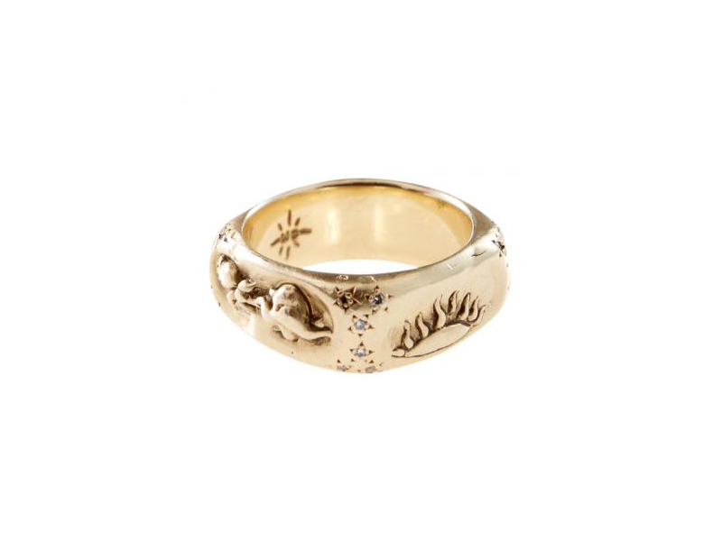 Catherine Michiels La vie de l'amour ring mounted on rose gold 1'790 €